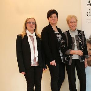 Gruppenfoto des Vorstandes mit Brigitte Tiems